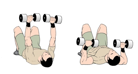 how to work pecs with dunbells